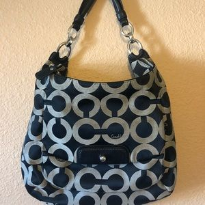 "COACH black/grey ""C"" logo handbag"